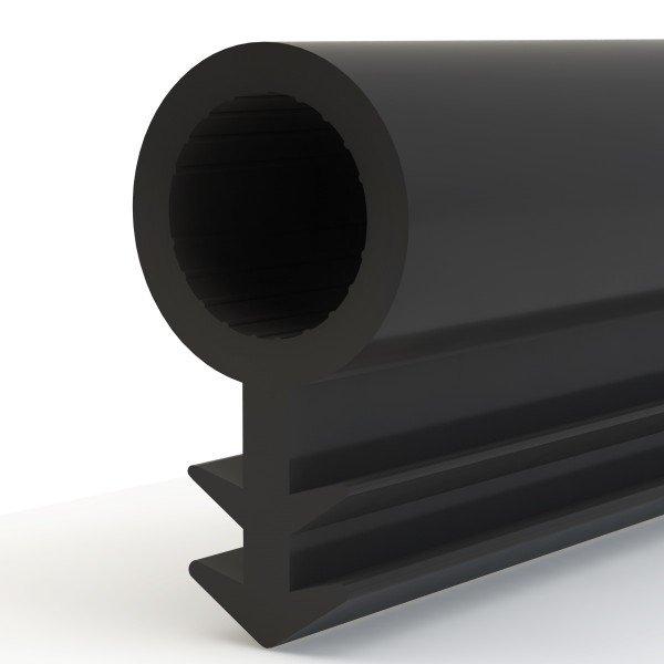 Türdichtung SCHLAUCHDICHTUNG Türgummi 4mm STD01 SCHWARZ Universal Dichtband Zimmertürdichtung