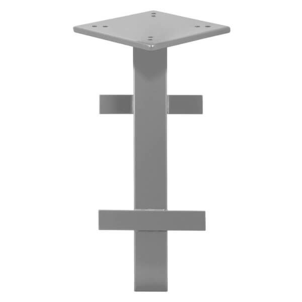 Bodenhülse mit Montageplatte für Sonnenschirm Ampelschirm RAL 9023 Perldunkelgrau