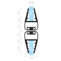 Vorschau: Duschdichtung Magnet Magnetdichtung SPARSET 201cm Fünfeckdusche Dichtung Eckduschen Eckeinstieg UPS