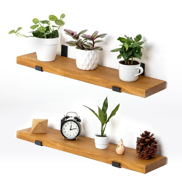 Wandregal aus Holz mit gerader Kante