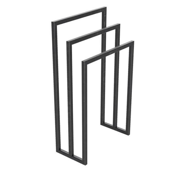 Handtuchständer 3 Badetuchstangen Handtuchhalter Freistehend, Tiefe 20 cm HLMH-01B