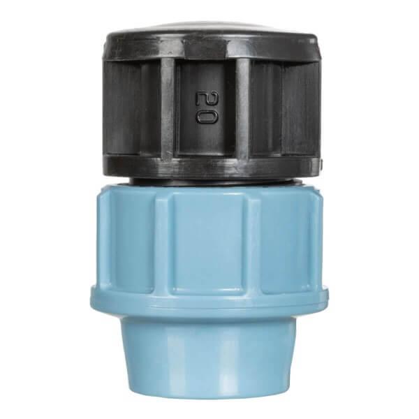 Verschlussstopfen ¾ Zoll 20 mm Endstück zum Verschluss des Verlegerohrs