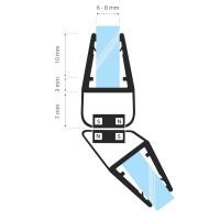 Vorschau: Duschdichtung Magnet Magnetduschdichtung SET 201cm UKM04 135° Grad Dichtung Fünfeck Dusche