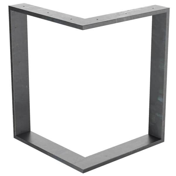 Design Tischkufen aus Vierkantprofilen 100x20 mm, V-Form, L-Form, Tischgestell, Tischbeine HLT-09-A
