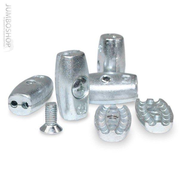 Drahtseilklemme EIFORM 2mm Seilklemmen Aluminium