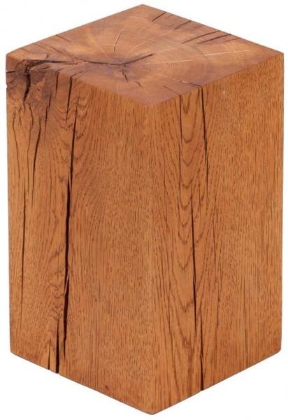 Dekosäule aus Eichenholz als Beistelltisch, Blumensäule oder Holzhocker