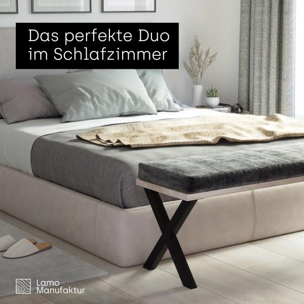2 Tischbeine für Sitzbank, Couchtisch, Beistelltisch, Höhe 43 cm