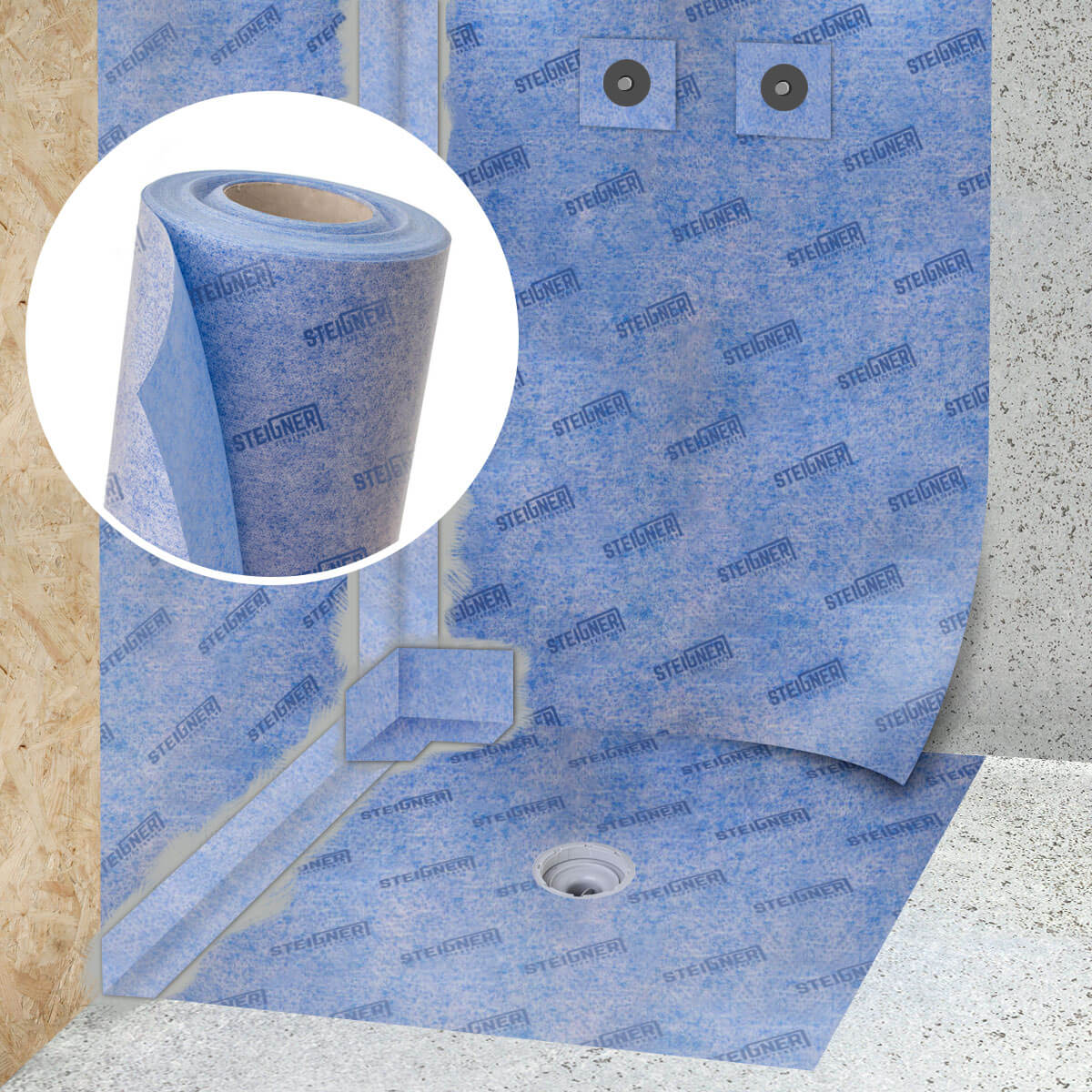 abdichtungsbahn entkopplungsmatte steigner dichtungen jumbo shop. Black Bedroom Furniture Sets. Home Design Ideas