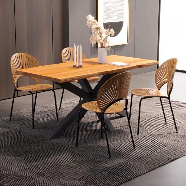 Modernes Tischgestell aus Metall für Esstisch, Arbeitstisch oder Gartentisch