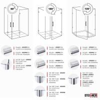 Vorschau: Duschdichtung Magnet Magnetduschdichtung SET 200cm UKM02 180° Grad Dichtprofil Dusche Ersatzdichtung