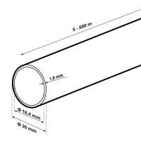 Vorschau: LDPE Brauchwasserleitung Verlegerohr für Sprenklersysteme aus Kunststoff 3/4 zoll 20 mm HWS01-20
