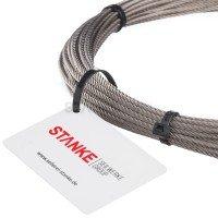 Vorschau: Rankhilfe Seilsystem SET 3: Edelstahlseil + 8x Kausche + 16x Seilklemmen