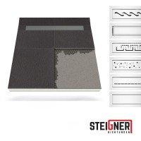Vorschau: Duschelement mit Duschrinne MINERAL BASIC 2-seitiges Gefälle Duschboard befliesbar