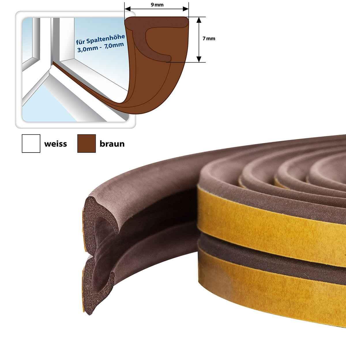 fensterdichtung gummidichtung selbstklebend braun v profil. Black Bedroom Furniture Sets. Home Design Ideas