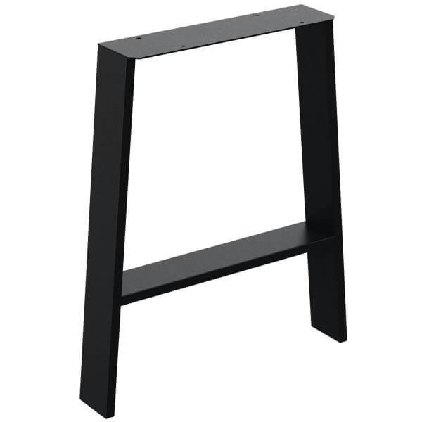 Design Tischkufen A-Form aus Vierkantprofilen 80x20 mm, a-förmiges Tischgestell Tischbeine HLT-16-C
