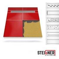 Vorschau: Duschelement mit Duschrinne MINERAL PROFI 2-seitiges Gefälle Duschboard befliesbar