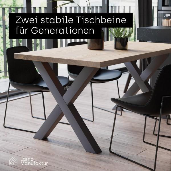 2 Tischbeine im Set für Esstisch oder Schreibtisch, Höhe 72 cm