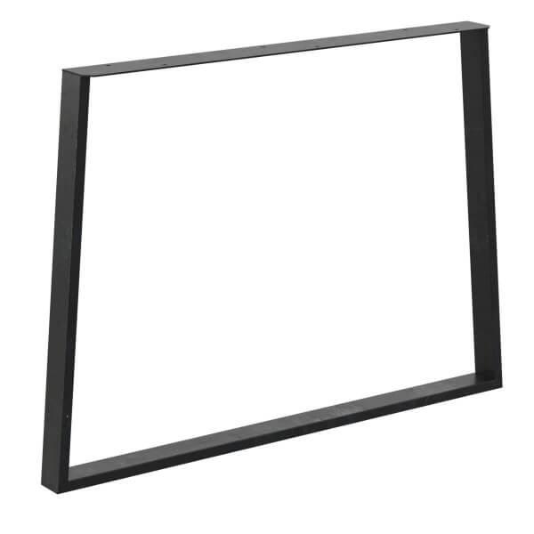 Design Tischkufen Trapez, Vierkantprofile 60x20 mm, trapezförmiges Tischgestell, Tischbeine HLT-17-E