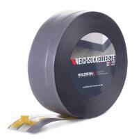Vorschau: Weichsockelleiste selbstklebend DUNKELGRAU Knickleiste Profil 32x23mm