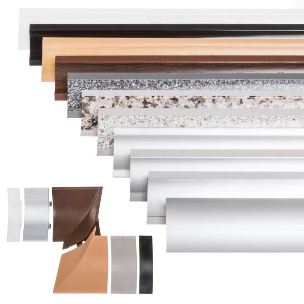 Küchenleiste 23x23mm Abschlussleiste Küche Arbeitsplatte - 611 Alu Satin