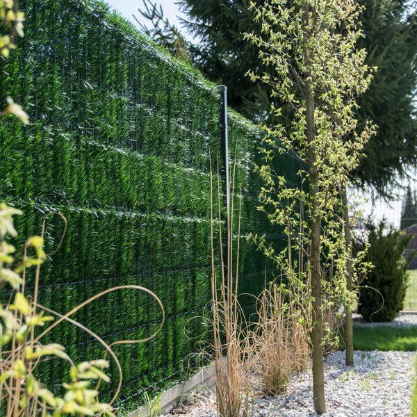 """Zaunblende Dunkelgrün """"GreenFences""""  Balkonblende für 130cm hohen Zaun /  Balkon Sichtschutz Pflanze"""