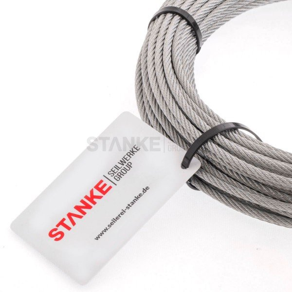 Rankhilfe Seilsystem SET 4: Stahlseil verzinkt + 2x Spannschloss H-O + 4x Seilklemme