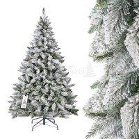 k nstlicher weihnachtsbaum fichte natur weiss mit. Black Bedroom Furniture Sets. Home Design Ideas