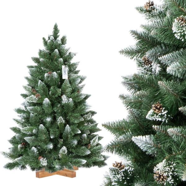 Foto Weihnachtsbaum.Kunstlicher Weihnachtsbaum Kiefer Natur Weiss Beschneit