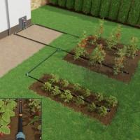 Vorschau: Bewässerungssystem mit Pfeiltropfer, Verlegerohr LDPE 16 mm