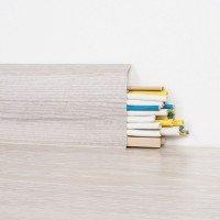 Vorschau: 2m Sockelleisten Fussbodenleiste Kunststoff PVC 70mm x 21mm VEO - Eiche Pastell
