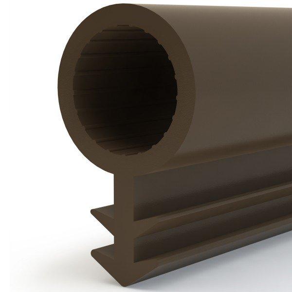 Türdichtung SCHLAUCHDICHTUNG Türgummi 8mm STD03 BRAUN Universal Dichtband Zimmertürdichtung