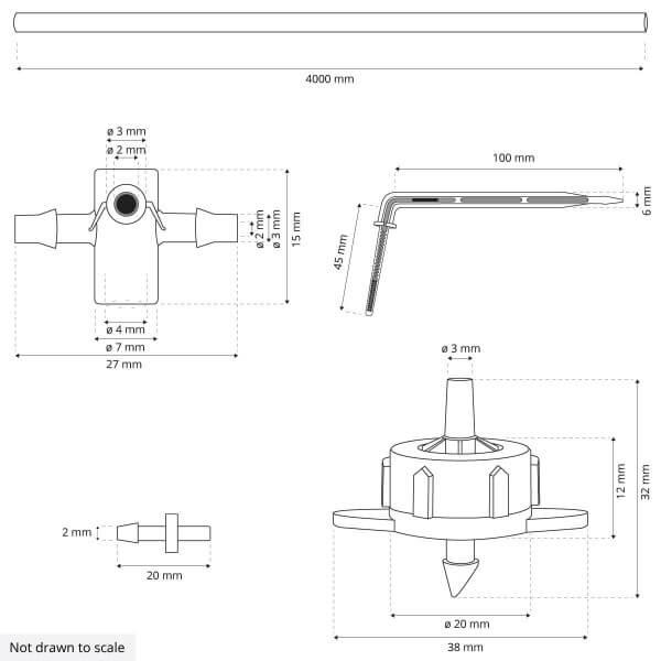 Bewässerungssystem Micro-Drip-System Tropfbewässerung Bewässerungsset 3