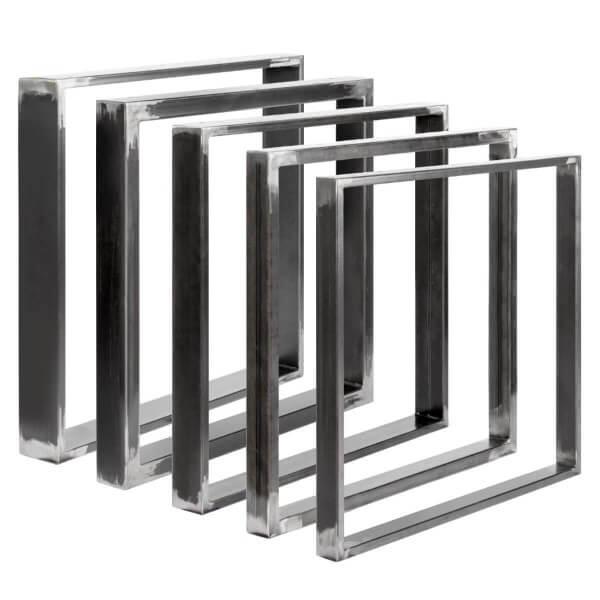 Design Tischkufen aus Vierkantprofilen 100x20 mm, Tischgestell, Tischbeine, 1 Stück, HLT-01-A