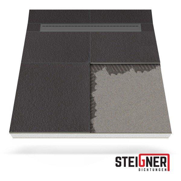 Duschelement Duschboard 100x120 cm mit mineralischer Spezialbeschichtung