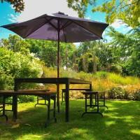 Vorschau: Sonnenschirmständer für Bodenhülse Innendurchmesser 55 mm Perldunkelgrau