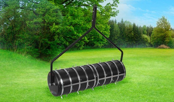 Gartenwalze 100cm Anhänge Rasenwalze mit STACHELAUFSATZ