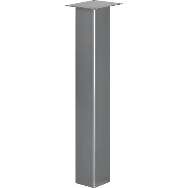 Tischbein Eckig, Möbelfuß aus Stahl, Quadratrohr 100x100 mm, Industriedesign, HLT-14A-K