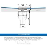 Vorschau: befliesbares Duschelement Punktablauf SENKRECHT Duschboard MINERAL PROFI