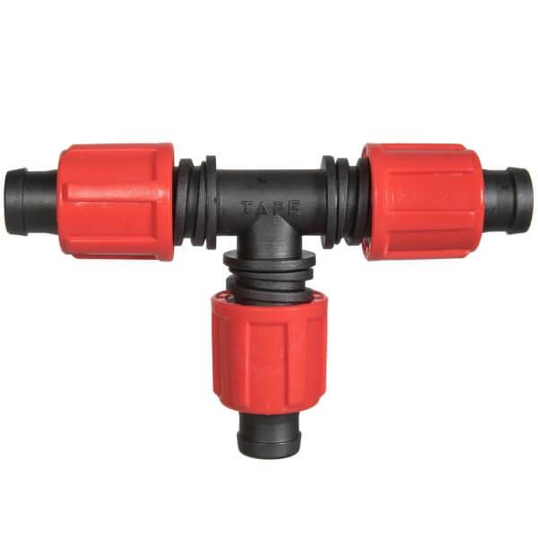 T-Stück 3x 5/8 Zoll Rohrverbinder für Rohrabzweigung von Verlegerohr oder Tropfschlauch