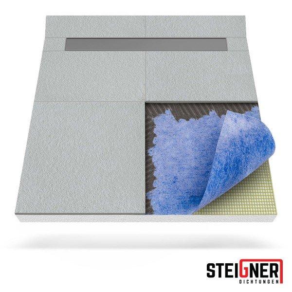 Duschelement mit Duschrinne 2-seitiges Gefälle Duschboard befliesbar inkl. Dichtfolie