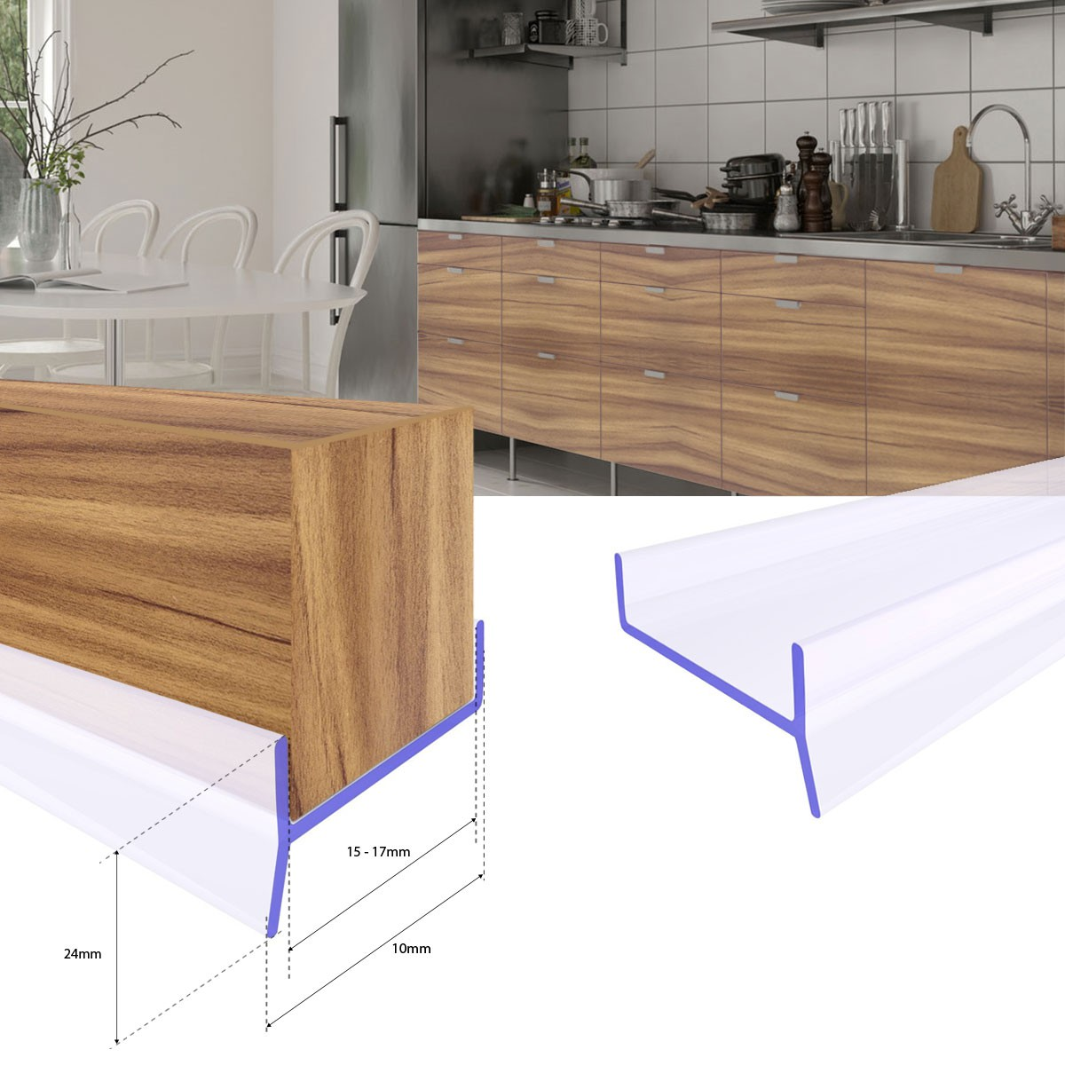 Küchensockel Abdichtungsprofil 15-19mm Sockel Dichtung erneuern 1 ...